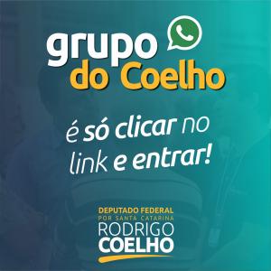 RODRIGO COELHO CRIA GRUPO DE WHATSAPP